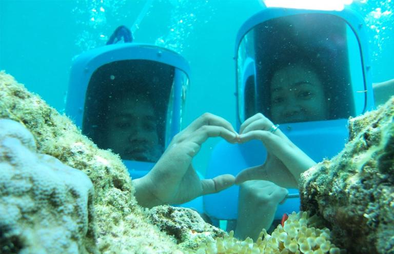 boracay helmet diving